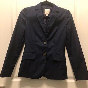 Jcrew Factory Dark Navy Blue Twill Blazer 00
